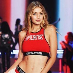 Pink Victoria Secret Sports Bra Size L